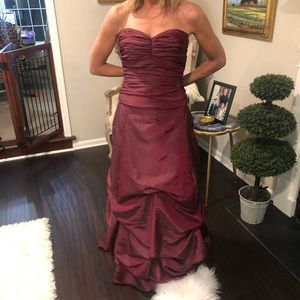 David's Bridal Two Piece Formal in Cranberry